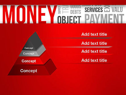 Money Word Cloud PowerPoint Template Slide 12