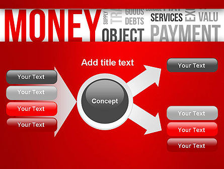 Money Word Cloud PowerPoint Template Slide 14