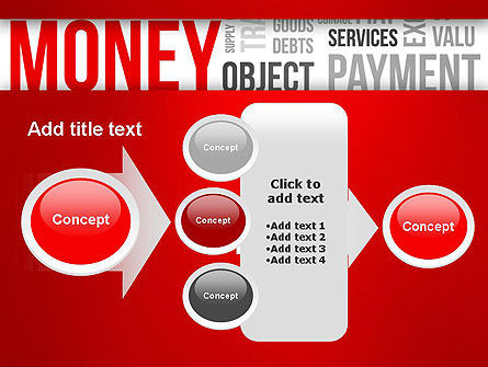 Money Word Cloud PowerPoint Template Slide 17