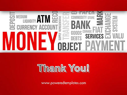Money Word Cloud PowerPoint Template Slide 20