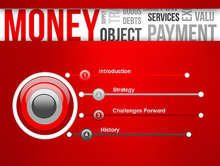 Money Word Cloud PowerPoint Template Slide 3