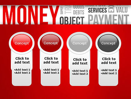 Money Word Cloud PowerPoint Template Slide 5