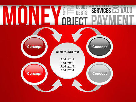 Money Word Cloud PowerPoint Template Slide 6