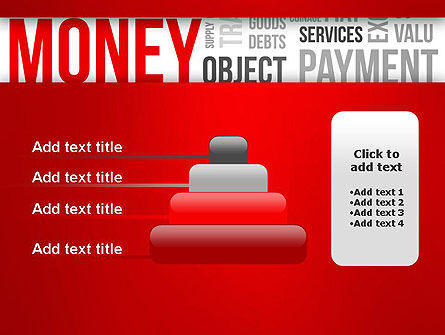 Money Word Cloud PowerPoint Template Slide 8