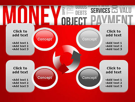 Money Word Cloud PowerPoint Template Slide 9