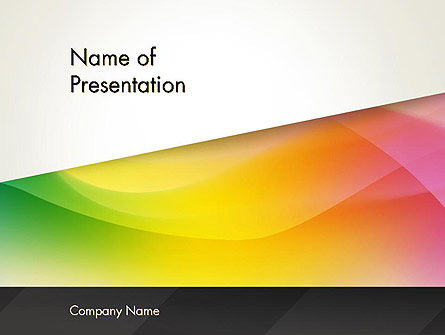 Orange Green Gradient PowerPoint Template