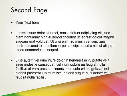 Orange Green Gradient PowerPoint Template Slide 2