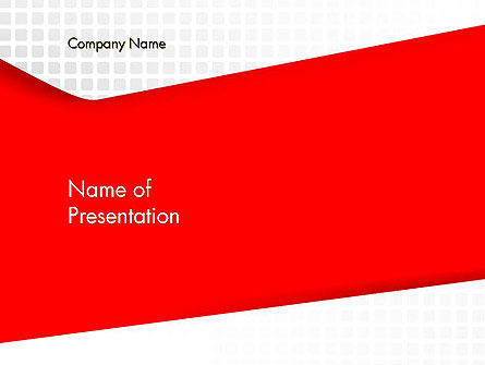Seamless Subtle Pattern with Red Shape PowerPoint Template