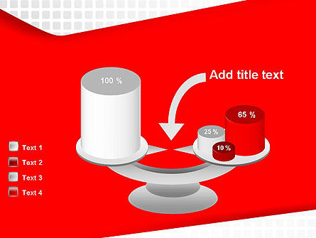 Seamless Subtle Pattern with Red Shape PowerPoint Template Slide 10