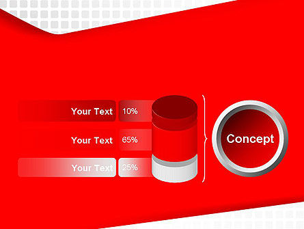 Seamless Subtle Pattern with Red Shape PowerPoint Template Slide 11