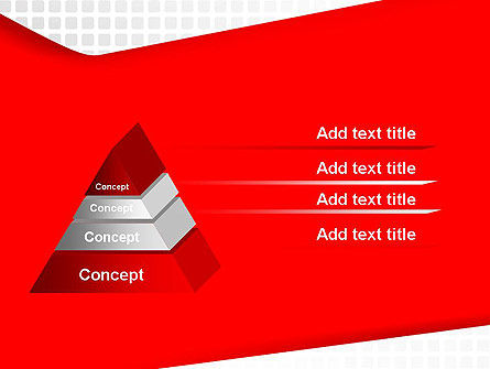 Seamless Subtle Pattern with Red Shape PowerPoint Template Slide 12