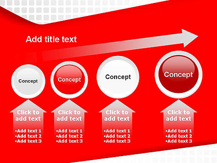Seamless Subtle Pattern with Red Shape PowerPoint Template Slide 13