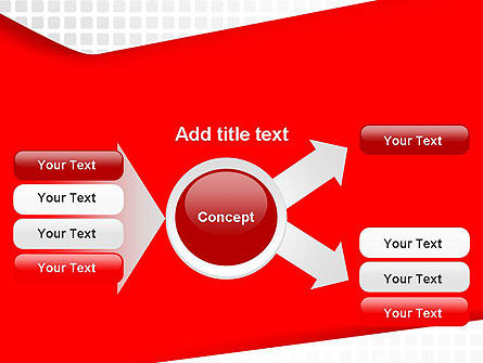 Seamless Subtle Pattern with Red Shape PowerPoint Template Slide 14