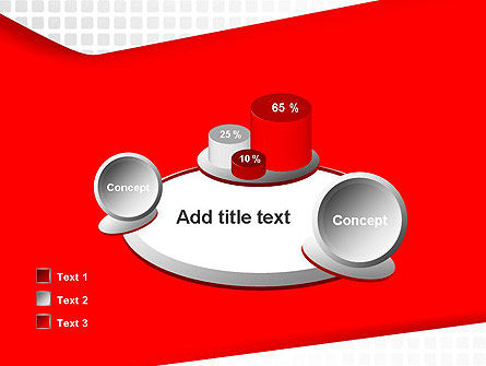 Seamless Subtle Pattern with Red Shape PowerPoint Template Slide 16
