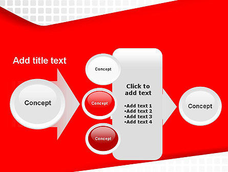 Seamless Subtle Pattern with Red Shape PowerPoint Template Slide 17