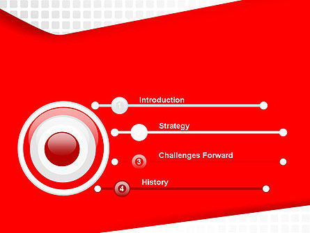 Seamless Subtle Pattern with Red Shape PowerPoint Template Slide 3