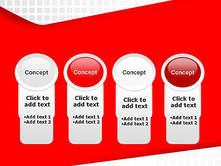 Seamless Subtle Pattern with Red Shape PowerPoint Template Slide 5