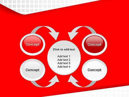 Seamless Subtle Pattern with Red Shape PowerPoint Template Slide 6