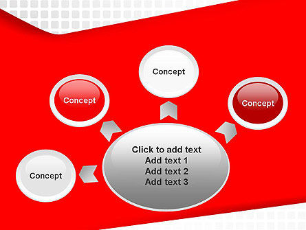 Seamless Subtle Pattern with Red Shape PowerPoint Template Slide 7