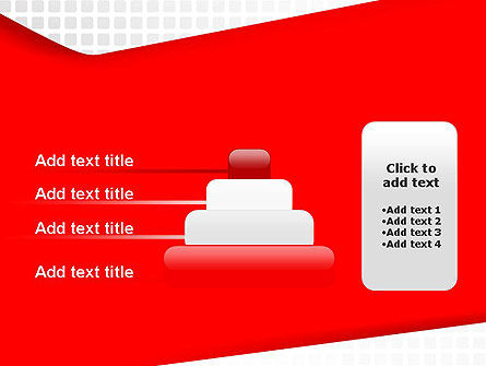 Seamless Subtle Pattern with Red Shape PowerPoint Template Slide 8