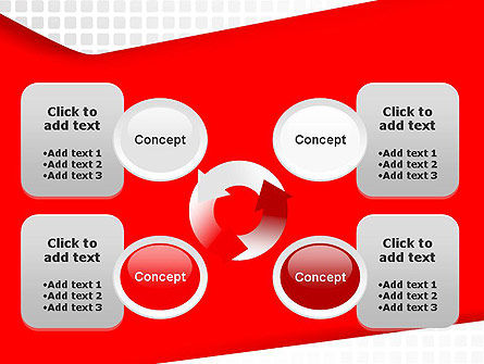 Seamless Subtle Pattern with Red Shape PowerPoint Template Slide 9