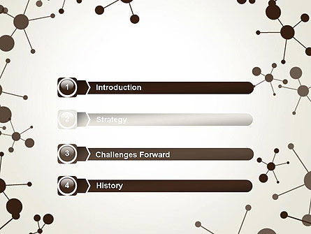 Molecule Background PowerPoint Template, Slide 3, 13447, Technology and Science — PoweredTemplate.com