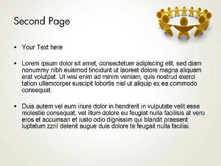 Golden Circle PowerPoint Template, Slide 2, 13451, 3D — PoweredTemplate.com