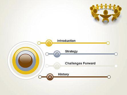 Golden Circle PowerPoint Template, Slide 3, 13451, 3D — PoweredTemplate.com