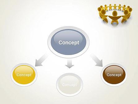 Golden Circle PowerPoint Template, Slide 4, 13451, 3D — PoweredTemplate.com