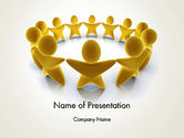 3D: Gouden Cirkel PowerPoint Template #13451