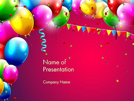 Colorful Birthday PowerPoint Template, 13452, Holiday/Special Occasion — PoweredTemplate.com