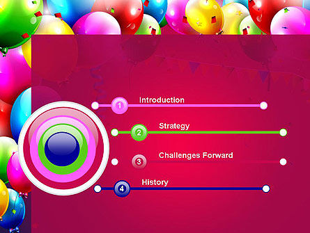 Colorful Birthday PowerPoint Template, Slide 3, 13452, Holiday/Special Occasion — PoweredTemplate.com