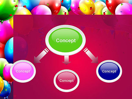 Colorful Birthday PowerPoint Template, Slide 4, 13452, Holiday/Special Occasion — PoweredTemplate.com