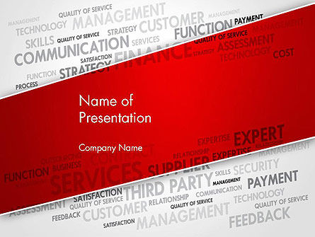 Management Word Cloud PowerPoint Template, 13455, Consulting — PoweredTemplate.com