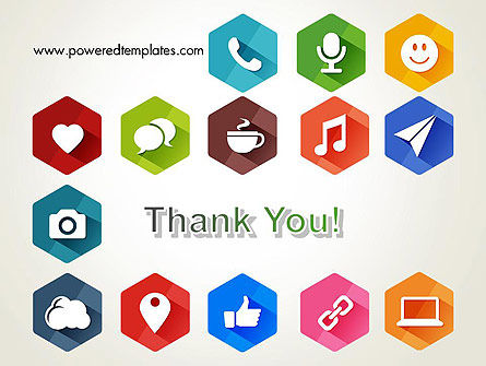 Flat Social Media Icons PowerPoint Template Slide 20