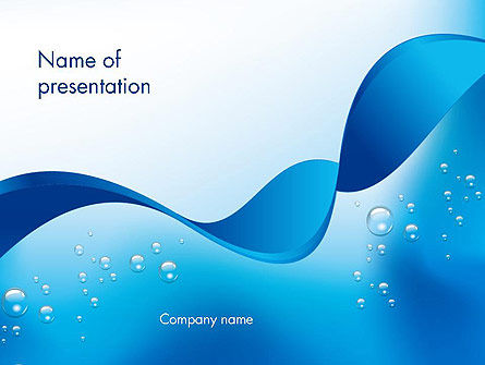 Abstract Sparkling Water PowerPoint Template, 13460, Abstract/Textures — PoweredTemplate.com