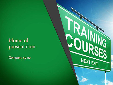 Education & Training: Training Courses PowerPoint Template #13461