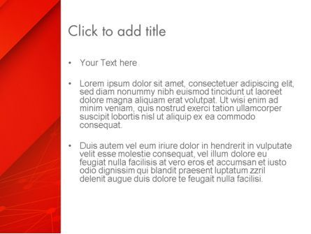 Abstract Red Layered PowerPoint Template, Slide 3, 13462, Abstract/Textures — PoweredTemplate.com