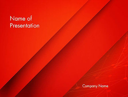 Abstract Red Layered PowerPoint Template