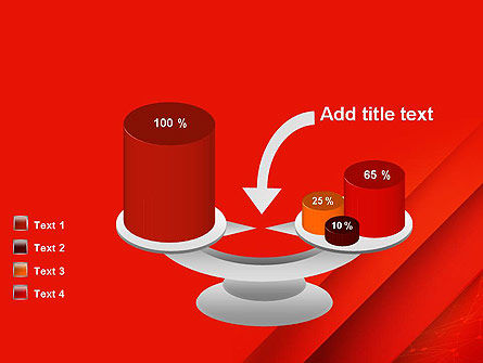Abstract Red Layered PowerPoint Template Slide 10