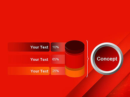 Abstract Red Layered PowerPoint Template Slide 11