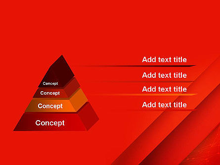 Abstract Red Layered PowerPoint Template Slide 12