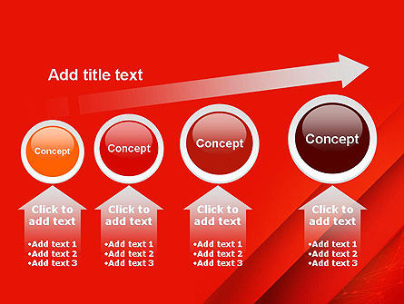 Abstract Red Layered PowerPoint Template Slide 13