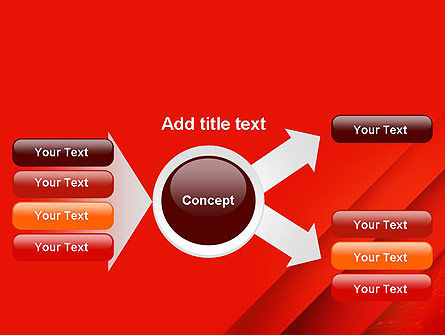 Abstract Red Layered PowerPoint Template Slide 14
