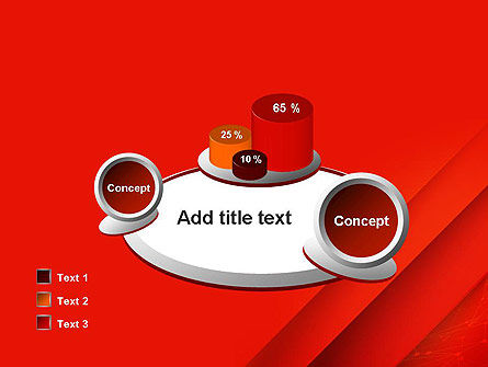 Abstract Red Layered PowerPoint Template Slide 16