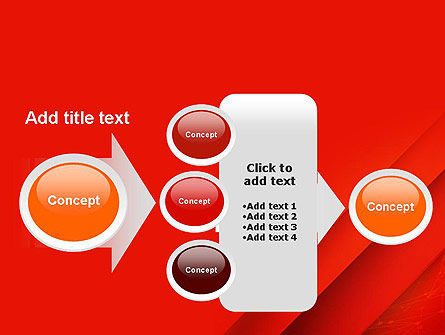 Abstract Red Layered PowerPoint Template Slide 17