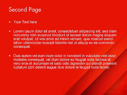 Abstract Red Layered PowerPoint Template Slide 2