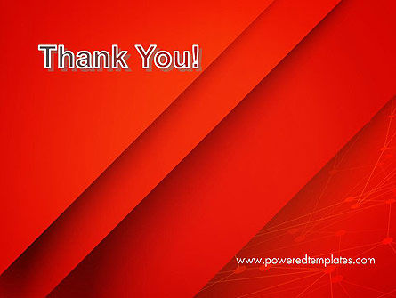 Abstract Red Layered PowerPoint Template Slide 20