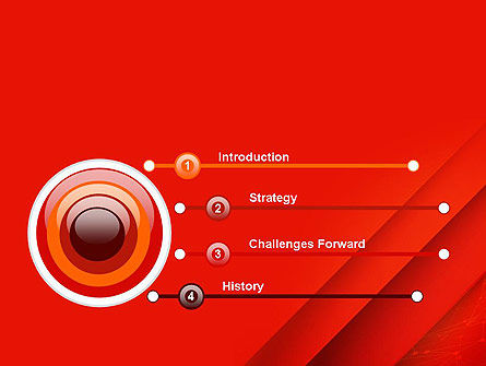 Abstract Red Layered PowerPoint Template Slide 3
