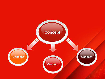 Abstract Red Layered PowerPoint Template Slide 4